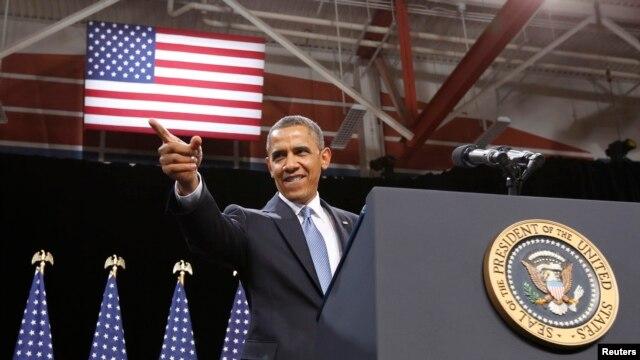29일 미국 네바다 주 라스베이거스에서 집권 2기 이민 정책 방향을 제시한 바락 오바마 미국 대통령.