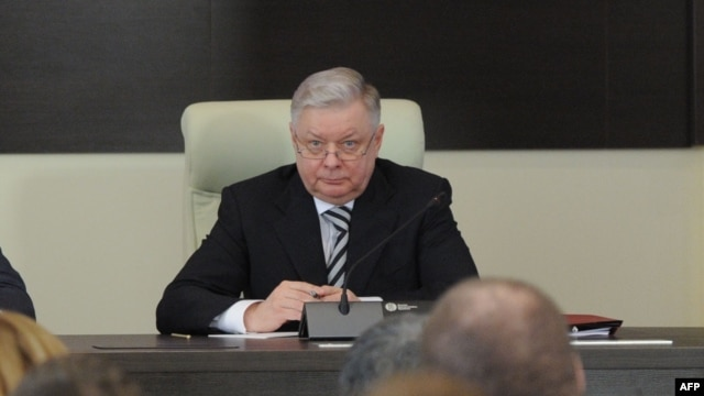 Russia's Federal Migration Service chief Konstantin Romodanovsky is seen at the agency's headquarters in Moscow, in this January 26, 2012, file photo.