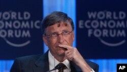 세계 경제 포럼에 참석한 빌 게이츠