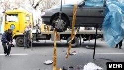 خودروی احمدی روشن، کارشناس هسته ای ایران پس از ترور او
