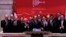 Perú visitan la bolsa de valores de Nueva York