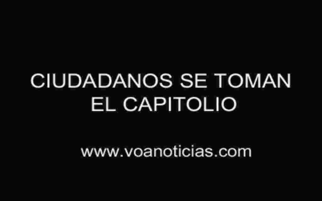 Ciudadanos se toman el Capitolio
