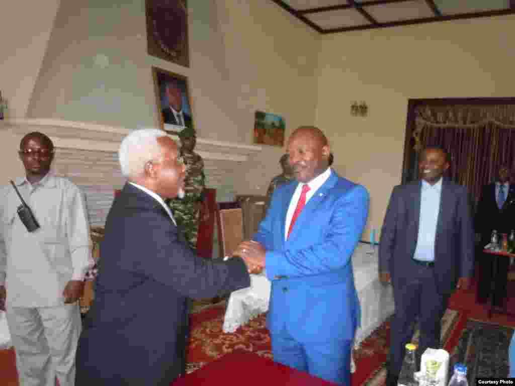 Muri palais i Gitega aho President nkurunziza yakiririye delegation onusienne.