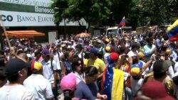 Opositores protestaron en Venezuela