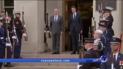 اشاره به ایران در دیدار وزرای دفاع آمریکا و انگلیس