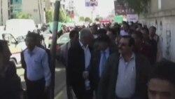 یمن کې الحوېیین یاغیانو خلاف مظاهره