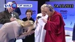 Đức Đạt lai Lạt Ma trao giải thưởng cho nữ diễn viên Sharon Stone (VOA60)
