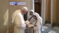 VOA60 DUNIYA: Vatican City Paparoma Francis Ya Sanar Da Cewa Mama Teresa Ta Kai Matsayin Waliya A Cikin Darikar Katolika, Disamba 18, 2015