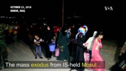 WATCH: Civilians Flee Mosul