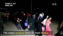WATCH: Civilians Flee Mosul
