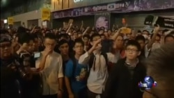 香港上万示威者重夺旺角,与警方发生冲突