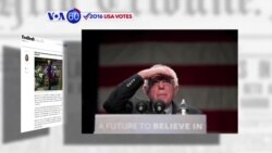VOA60 Elections - Bernie Sanders has a wide lead in Iowa and New Hampshire