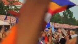 柬埔寨反对派抗议洪森大选获胜