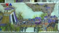 نوآوری تابلوهای نقاشی با کاموا توسط یک هنرمند چینی