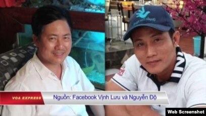 Ông Lưu Văn Vịnh và ông Nguyễn Văn Đức Độ. (Ảnh chụp từ Facebook)