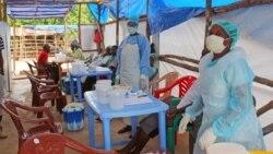 یک کلینیک سیار برای بیماران ابولا در سیرالئون - ۲۷ ژوئیه ۲۰۱۴