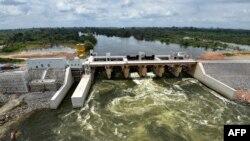 Le barrage de Soubré, Côte d'Ivoire, 6 mars 2017.