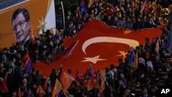تجمع طرفداران حزب عدالت و انکشاف در استانبول