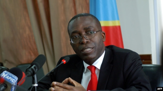 Democratic Republic of Congo's Prime Minister Augustin Matata Ponyo Mapon talks during a press conference in Kinshasa, April 19, 2012.