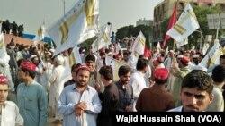 فاٹا اصلاحات کے حوالے سے احتجاج۔ فائل فوٹو