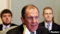 俄罗斯外交部长拉夫罗夫。
