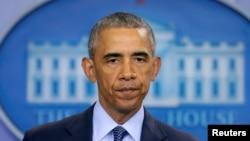 바락 오바마 미국 대통령이 12일 백악관에서 올랜도 총격 사건 희생자들을 애도하는 특별담화를 발표했다.