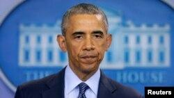 Tổng thống Barack Obama phát biểu về vụ xả súng ở Orlando tại Tòa Bạch Ốc, Washington, ngày 12 tháng 6, 2016.