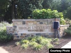 Aula Andika Fikrullah Al Balad, mahasiswa Indonesia di Lehigh University, Pennsylvania (dok: Aula)