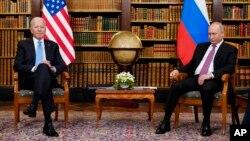 Джо Байден и Владимир Путин, Женева, Швейцария, 16 июня 2021 г.