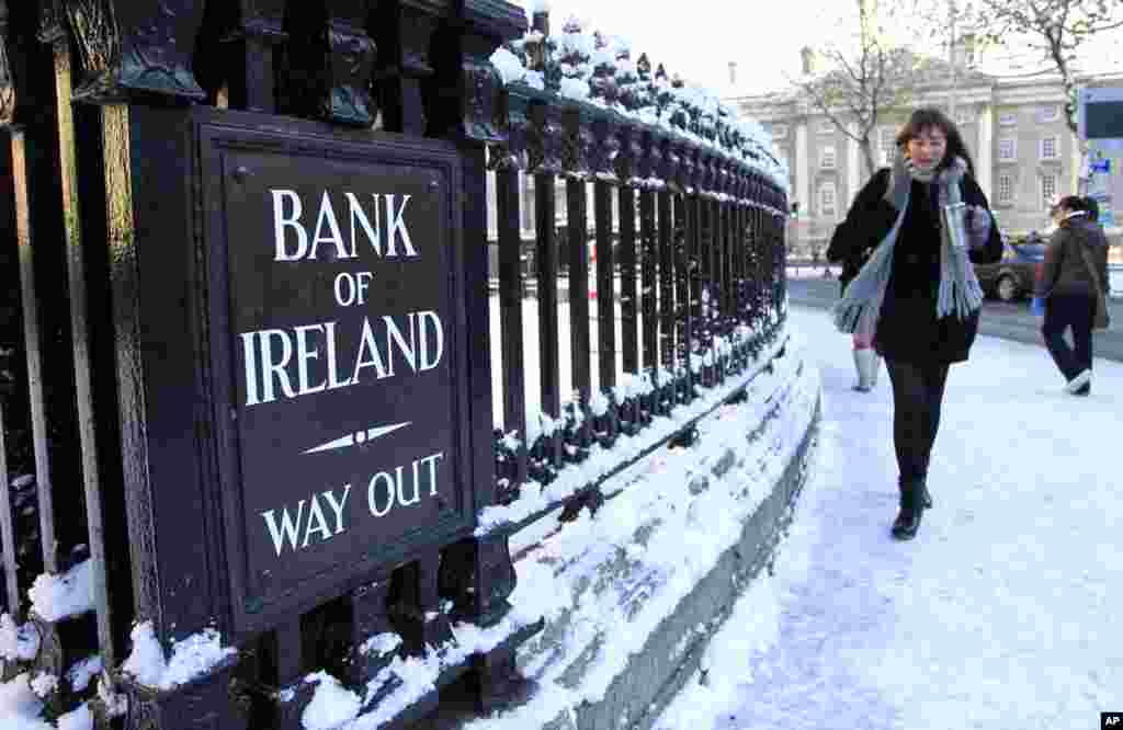 Soon Ireland's borrowing rates on bond markets rose so high it was unable to finance itself independently. It secured a 67.5 billion euro package in November 2010.