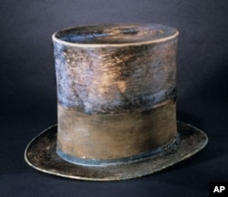 Top hat worn by Abraham Lincoln to Ford's Theatre on the night of his assassination.