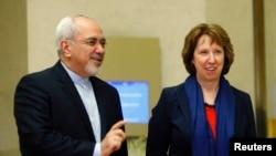İran Dışişleri Bakanı Cevat Zarif ve AB Temsilcisi Catherine Ashton