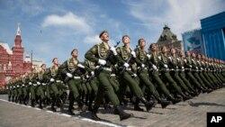 روسیه از هفتادومین سالگرد ختم جنگ دوم جهانی تجلیل به عمل آورد