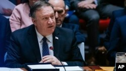 Майк Помпео виступає на засіданні РБ ООН 26 січня 2019 року