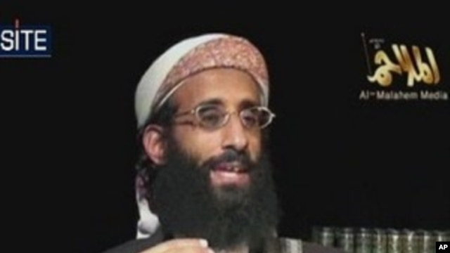 Still image from video, courtesy of the SITE, a for-profit private group tracking suspected terrorists, shows Anwar al-Awlaki from the Al-Qaeda in the Arabian Peninsula (AQAP), 22 May 2010