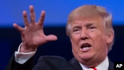 Donald Trump, jedi premye septanm 2016, nan Cincinnati, Eta Ohio.