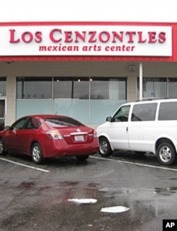 The Los Cenzontles Mexican Arts Center sits in the middle of a strip mall.