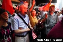 針對台灣總統蔡英文訪問紐約的示威者