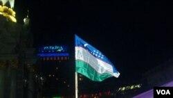 O'zbekiston bayrog'i Kiyev Maydonida