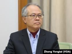 台湾民主基金会副执行长颜建发(美国之音张永泰拍摄)