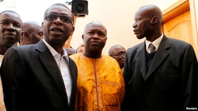 Singer Youssou N'dour (left) announced his support for opposition leader Macky Sall's presidential candidacy in 2012.