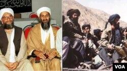 DK PBB memutuskan untuk memperlakukan kelompok militan Taliban (kanan) berbeda dengan kelompok teroris Al-Qaida.