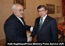 İran Dışişleri Bakanı Cevat Zarif, Çavuşoğlu'ndan sonra İstanbul'da Başbakan Ahmet Davutoğlu'yla da görüştü