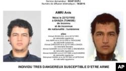 Polisi Jerman masih mencari tersangka Anis Amri, berkebangsaan Tunisia, yang diduga terkait serangan truk di pasar Natal di Berlin (foto: dok).