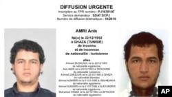 Anis Amri est recherché dans toute l'Europe.