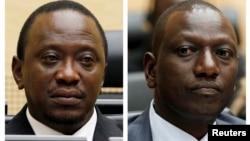 Presiden Kenya, Uhuru Kenyatta dan Wapres William Ruto dijadwalkan akan diadili ICC atas tuduhan melakukan kejahatan terhadap kemanusiaan (foto: dok).