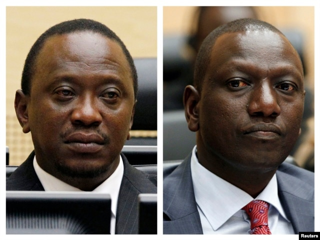 An April 2011 Combination picture shows Kenya's Uhuru Kenyatta and William Ruto at the International Criminal Court (ICC) in The Hague.