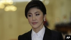 Thai Prime Minister Yingluck Shinawatra pictured on September 15, 2011.