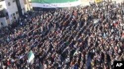 행진하는 시리아 반정부 시위대 (자료사진)