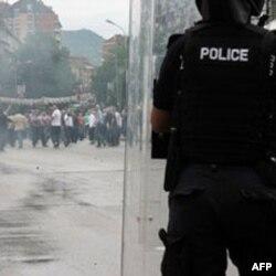 Protesti u Kosovskoj Mitrovici (arhivski snimak)